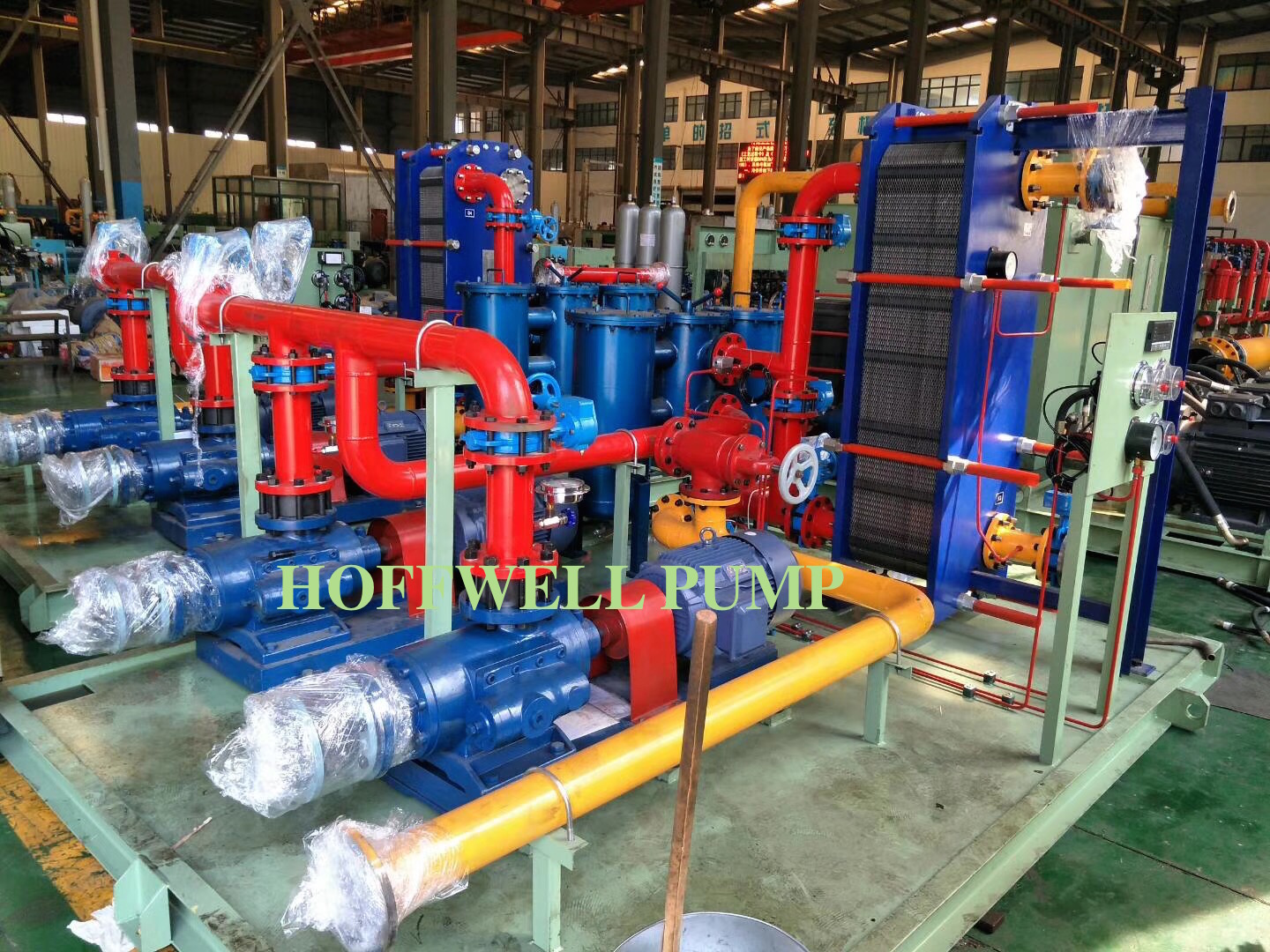 Welcome 2018. Our customer used our SNH triple screw pump